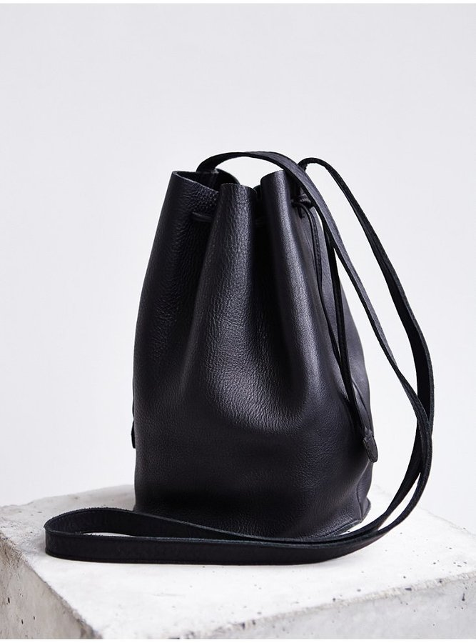 Baggu Leather Drawstring Bucket Bag | Where to buy & how to wear
