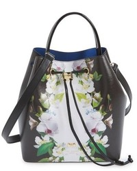 Ted Baker London Forget Me Not Leather Bucket Bag
