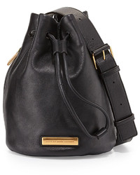 Marc by Marc Jacobs Luna Leather Bucket Bag Black