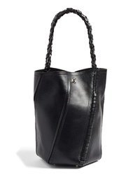 Proenza Schouler Medium Hex Stitch Leather Bucket Bag