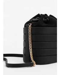 Mango Mini Leather Bucket Bag