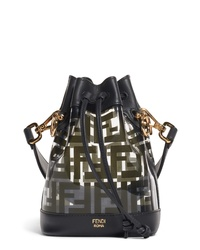 Fendi Mini Mon Tresor Transparent Bucket Bag
