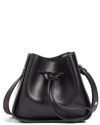 3.1 Phillip Lim Mini Soleil Leather Bucket Bag Black
