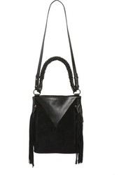Sam Edelman Monica Leather Bucket Bag Black