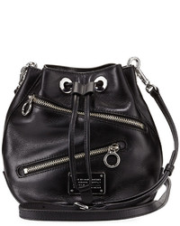 Marc by Marc Jacobs New Too Hot To Handle Small Zip Bucket Bag Black