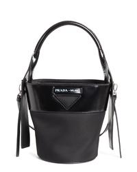 Prada Ouverture Tessuto Bucket Bag
