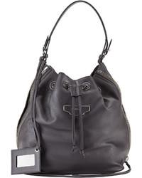 Balenciaga Papier Plate Side Zip Bucket Bag