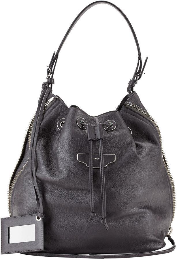 ... Leather Bucket Bags Balenciaga Papier Plate Side Zip Bucket Bag ... a4835a327e815