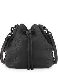 Rebecca Minkoff Pebbled Leather Bucket Bag Black