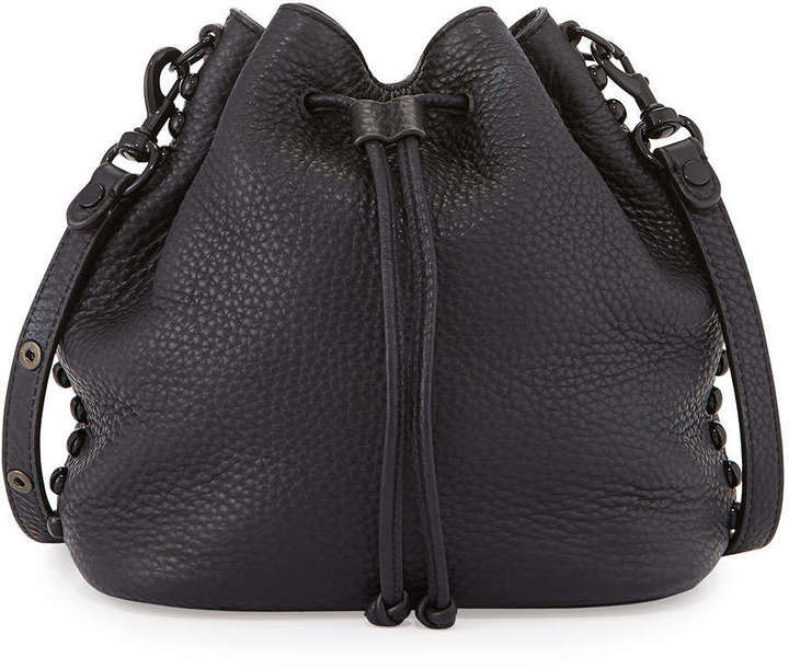 most fashionable nice shoes the latest $325, Rebecca Minkoff Pebbled Leather Bucket Bag Black