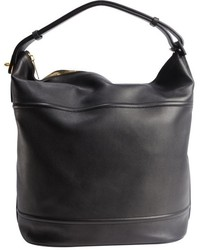 Tom Ford Pre Owned Black Leather Oversized Bucket Shoulder Bag