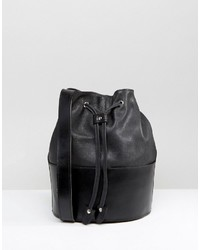 Park Lane Real Leather Bucket Bag