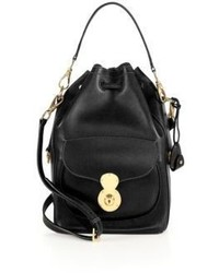 Ralph Lauren Ricky Leather Bucket Bag