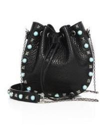 Valentino Rockstud Rolling Leather Chain Bucket Bag