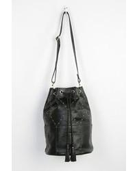 UO Sancia Valencia Studded Leather Bucket Bag