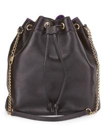 Sarah Jessica Parker Sjp By Madison Leather Bucket Bag Black