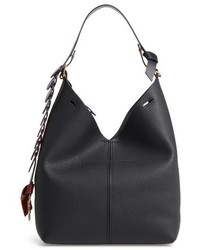 Anya Hindmarch Small Leather Bucket Bag Black