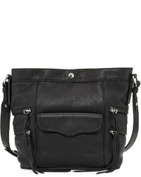 Rebecca Minkoff Smith Dexter Leather Bucket Bag Black