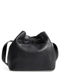 Topshop Stella Faux Leather Bucket Bag Black