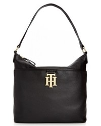 Tommy Hilfiger Th Monogram Leather Bucket Bag