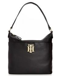 Tommy Hilfiger Th Monogram Leather Bucket Bag