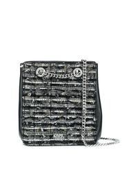 Karl Lagerfeld Tweed Bucket Bag