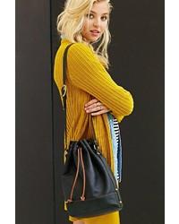 UO Artemis Leather Bucket Shoulder Bag