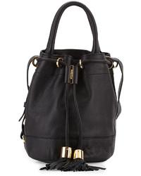 See by Chloe Vicki Leather Bucket Bag Black