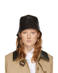 Loewe Black Leather Bucket Hat
