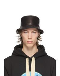 Loewe Black Leather Fisherman Bucket Hat