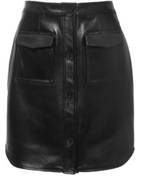 Leather button down skirt medium 373684