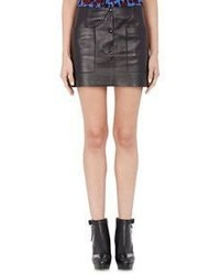 Acne Studios Leather Koby Miniskirt Black