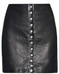 Versus Versace Lion Head Leather Mini Skirt