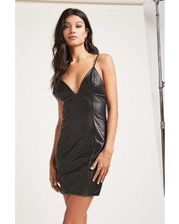 Forever 21 Faux Leather Cami Mini Dress