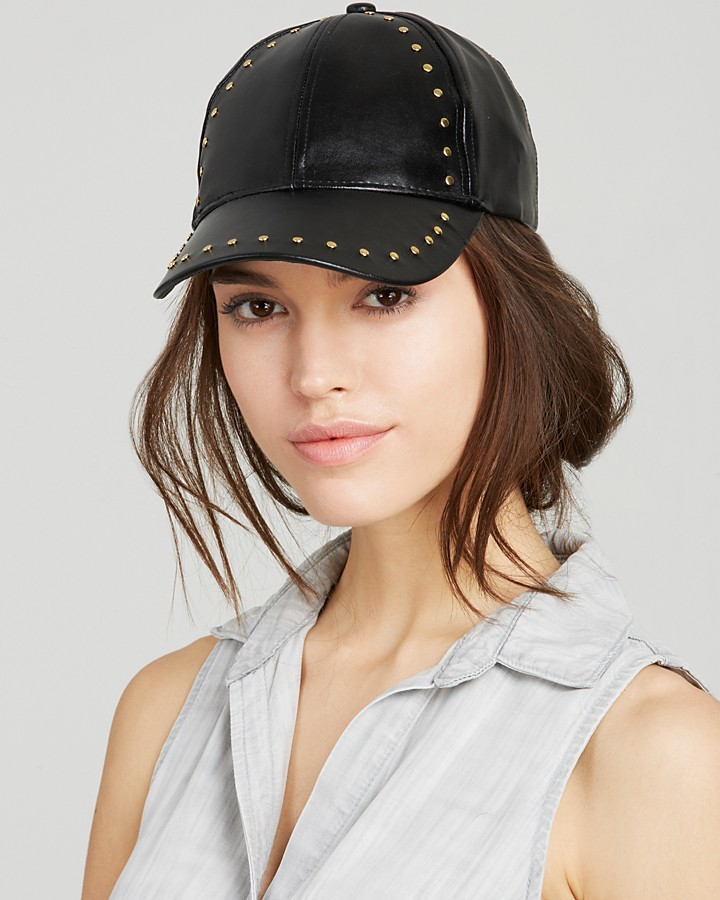c43814c34401 ... Bloomingdale s August Accessories Studded Baseball Cap