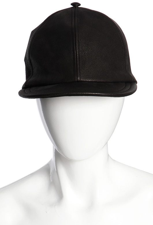 83b85e5c3 Darien Leather Baseball Cap