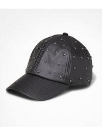 Express Studded Leather Baseball Hat
