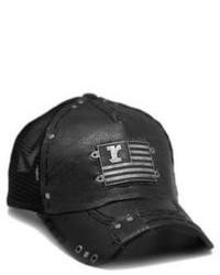 Rustix Flag Black Leather Hat
