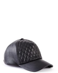 GUESS Quilted Faux Leather Baseball Cap