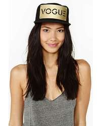 Nasty Gal Vogue Cap Gold