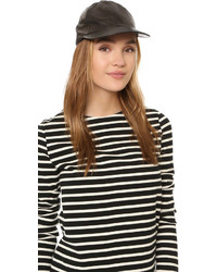 Kate Spade New York Leather Baseball Cap With Bow Detail