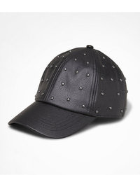 Express Studded Leather Baseball Hat