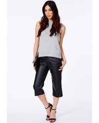 Missguided Katriane Faux Leather Cropped Trousers