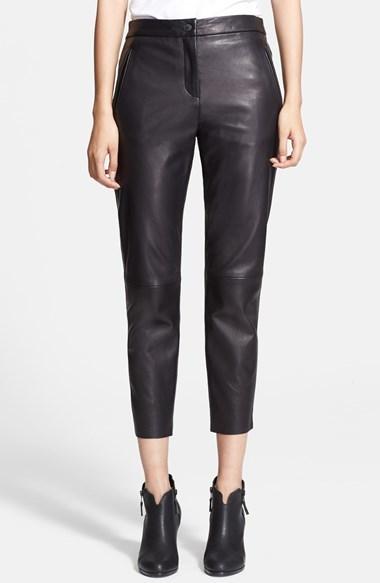 Rag and Bone Rag Bone Em Leather Crop Pants
