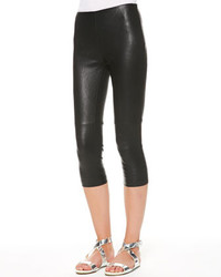 Ralph Lauren Denver Stretch Leather Capri Pants