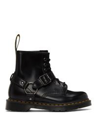 Dr. Martens Black 1460 Harness Boots