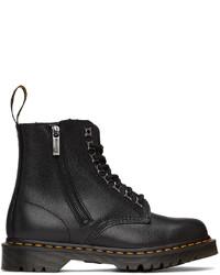 Dr. Martens Black 1460 Pascal Zip Leo Boots