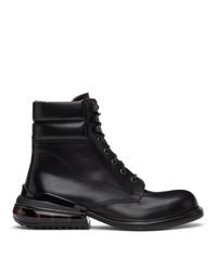 Maison Margiela Black Airbag Heel Lace Up Boots