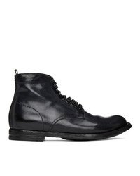 Officine Creative Black Anatomia 13 Vigogna Boots
