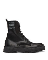 Viron Black Apple Leather 1992 Boots